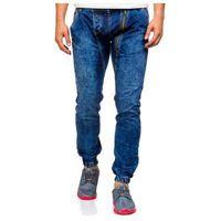 Spodnie jeansowe joggery męskie granatowe denley 408-1, Otantik