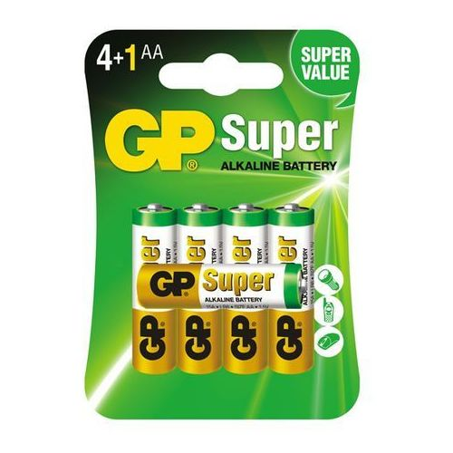 5 x bateria alkaliczna GP Super Alkaline LR6/AA