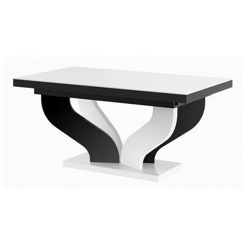 Rozkładany stół biało - czarny połysk - tutto marki Producent: elior