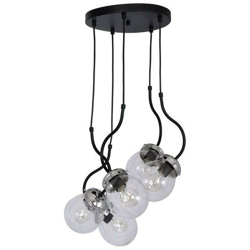 Luminex Lampa wisząca natan 5 x 60 w e27 chrome/black (5907565978926)