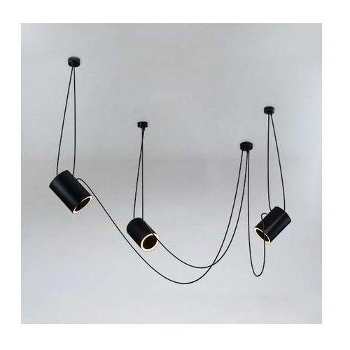 LAMPA wisząca DUBU 9027/E14/CZ Shilo modernistyczna OPRAWA metalowy ZWIS tuby czarne, 9027/E14/CZ