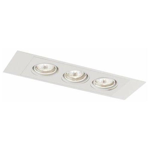 Shilo Wpust lampa sufitowa ebino h 7321 prostokątna oprawa podtynkowa oczka regulowane białe