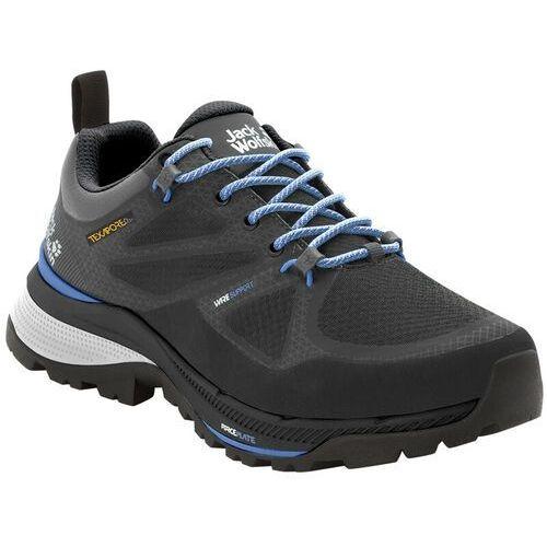 Jack wolfskin force striker texapore buty kobiety, black/blue uk 4 | eu 37 2020 buty turystyczne