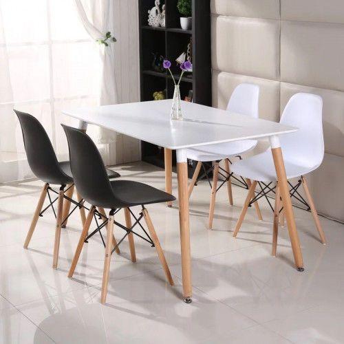 Meblemwm Stół art103t 120x80 skandynawski + 4 krzesła em01