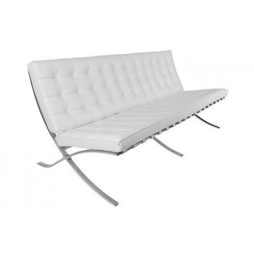 Sofa BA3 Premium Inspirowana Barcelona - biały, kolor biały