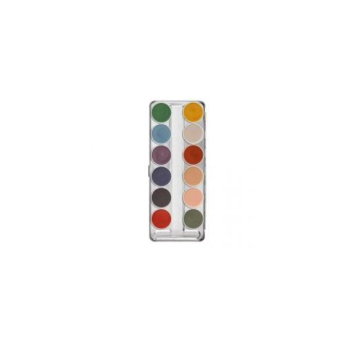 Kryolan Supracolor, Interferenz, paleta 12 farb do twarzy i ciała
