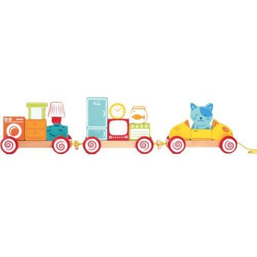 House of toys  ciuchcia z klocków magnetyczny pociąg, kategoria: zabawki drewniane