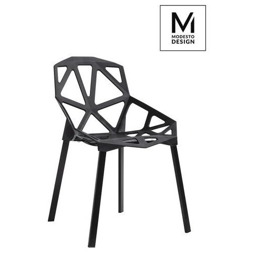 Sofa.pl Modesto krzesło split mat czarne - polipropylen, podstawa metalowa