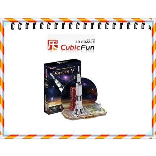 Puzzle 3d rakieta saturn v marki Cubic fun