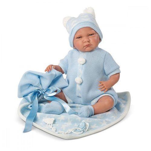 Lalka płacząca Lalo z niebieskimi gwiazdkami 40 cm (8426265740338)