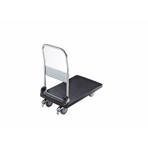 Wózek platformowy z tworzywa, 1 pałąk do przesuwania, składany, nośność 280 kg. marki Seco