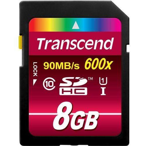 Transcend Karta pamięci sdhc  ts8gsdhc10u1, 8 gb, class 10, uhs-i, 90 mb/s / 22 mb/s
