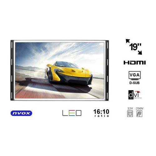 "NVOX OP1900VH Monitor open frame LCD 19"" cali LED VGA HDMI DVI 12V 230V"