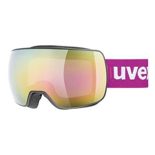 Gogle narciarskie compact fm lustrzane szyby czarny / fioletowy marki Uvex
