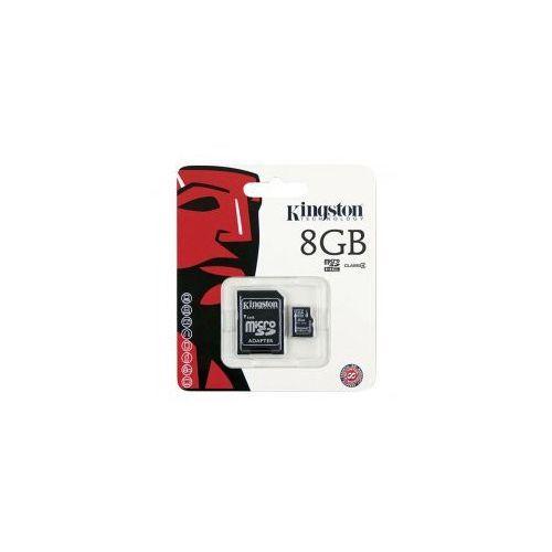 KARTA PAMIĘCI KINGSTON MICRO SDHC 8GB CLASS 4 ADAPTER