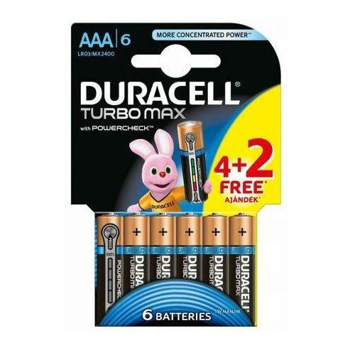 6 x bateria alkaliczna Duracell Duralock Turbo Max LR03 AAA (blister)