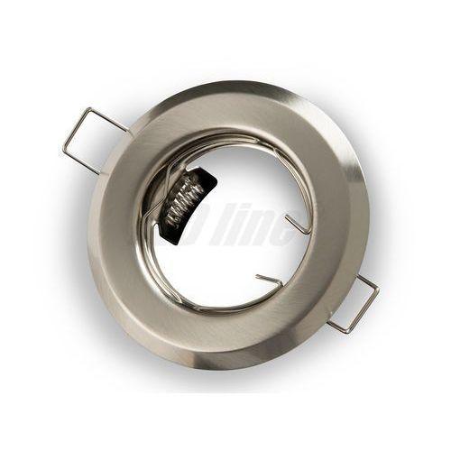 Led line Oprawa halogenowa sufitowa okrągła stała, tłoczona - satyna (5901583242700)
