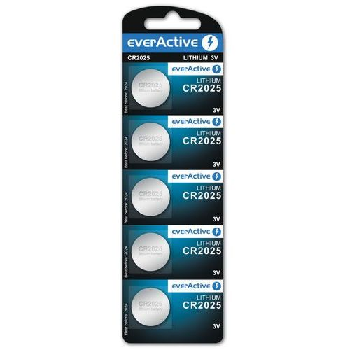 5x bateria litowa mini everActive CR2025 (bateria elektryczna)