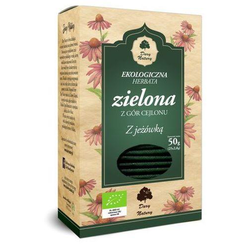 Dary natury - test Herbata zielona z jeżówką bio (25 x 2 g) - dary natury (5902581617521)