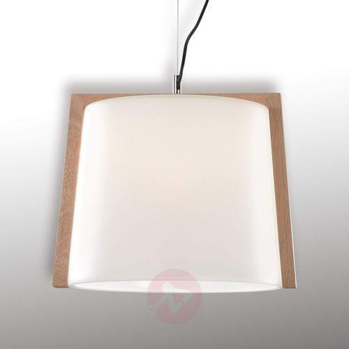 Drewniana lampa wisząca Mona, 1-pkt., 35 cm (5201769064455)