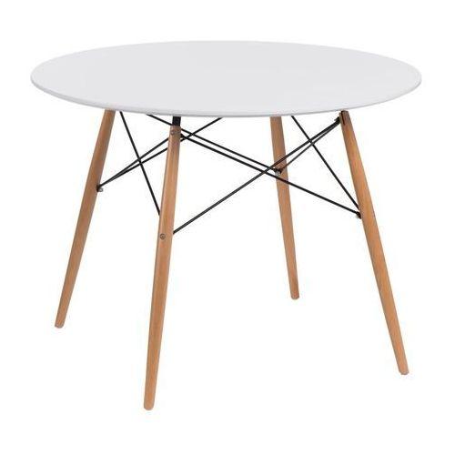 D2.design Stół dtw 100 cm biały/ naturalny
