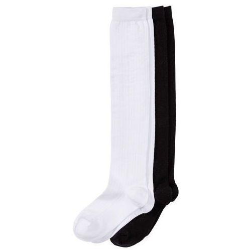 Podkolanówki w ludowym stylu (2 pary) biało-czarny marki Bonprix