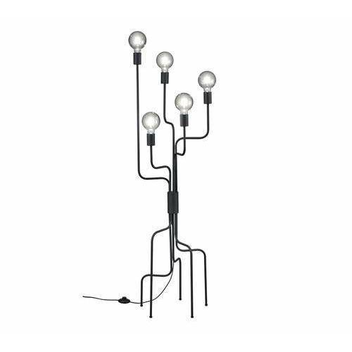 Trio Connor 406200532 lampa stojąca podłogowa 5x10W E27 czarna, kolor Czarny
