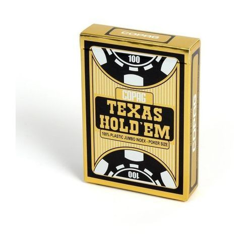 Texas Hold'em 100% plastic jumbo - czarny