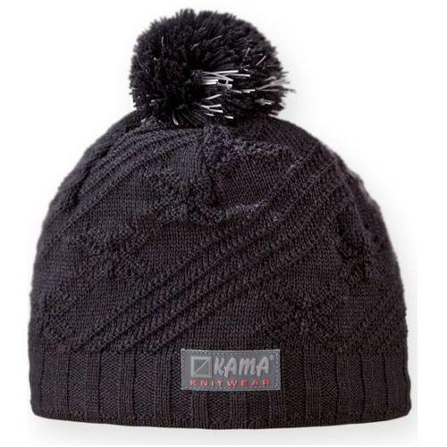 Dziecięca dziana czapka Kama B65 111 - Odblaskowy elementy