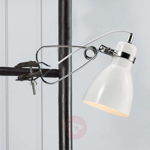 Nordlux Błyszcząca lampa z klipsem clone biała