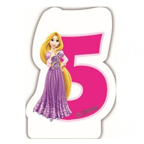 Świeczka w kształcie cyfry 5, disney princess marki Party world