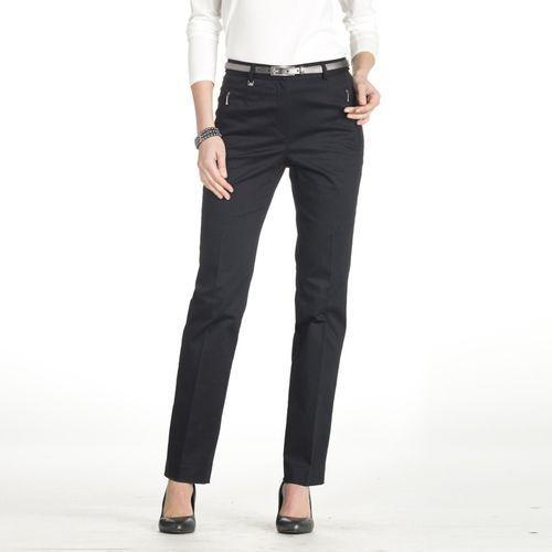 Spodnie z satynowej bawełny ze stretchem