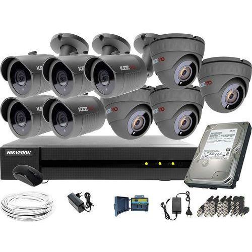 ZM11885 Zestaw do monitoringu 9 kamer IR 30m Rejestrator Hikvision FullHD Dysk 1TB