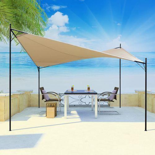 altana ogrodowa z żaglem przeciwsłonecznym, 4x4 m marki Vidaxl