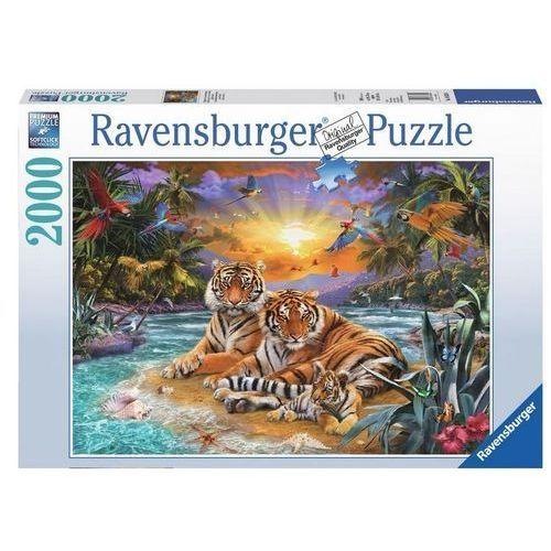 Ravensburger Puzzle 2000 elementów rodzina tygrysów (rap166244)