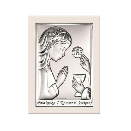 Obrazek Pamiątka I Komunii w białej oprawie -(BC#6491/AW)
