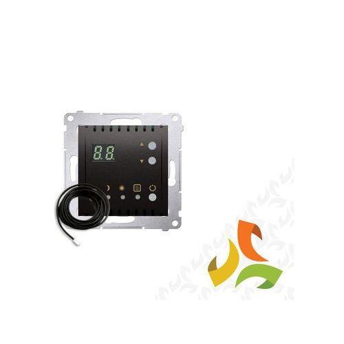 Regulator temperatury z wyświetlaczem, wewnętrzny czujnik temperatury 16A, 230V, antracyt mat DTRNSZ.01/48 SIMON 54 PREMIUM, DTRNSZ.01/48/KON