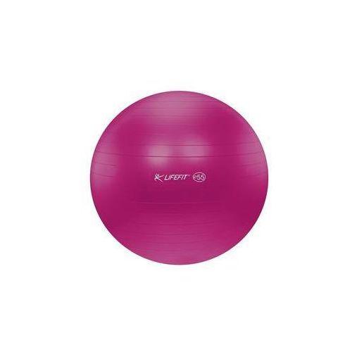 Piłka gimnastyczna anti-burst 55 cm bordó marki Lifefit