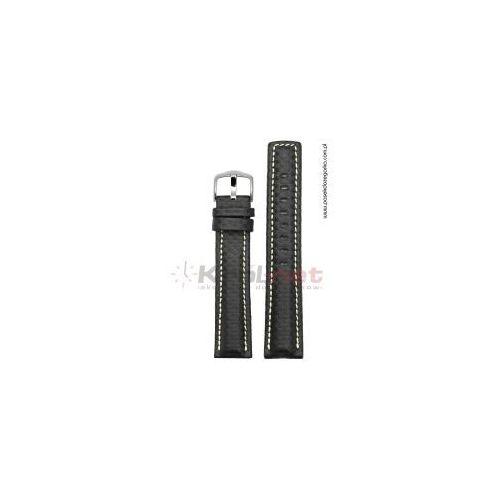 Pasek Hirsch Carbon 18 mm XL - czarny, long, 02592050/18XL