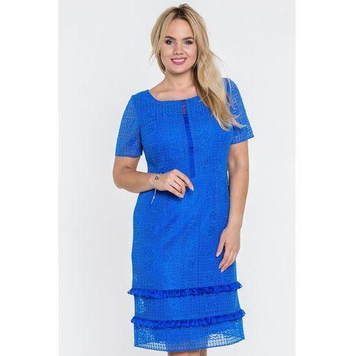 Niebieska koronkowa sukienka - Potis & Verso, 1 rozmiar