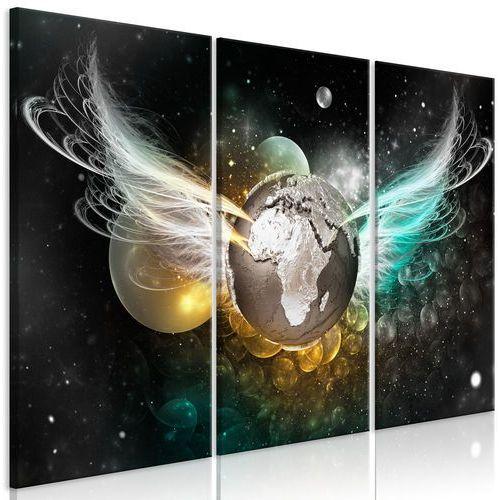 Obraz - planeta aniołów (3-częściowy) zielono-złoty bogata chata marki Artgeist