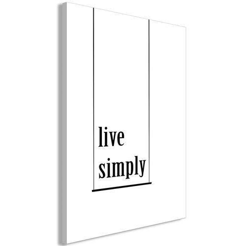 Obraz - minimalistyczne hasło (1-częściowy) pionowy marki Artgeist