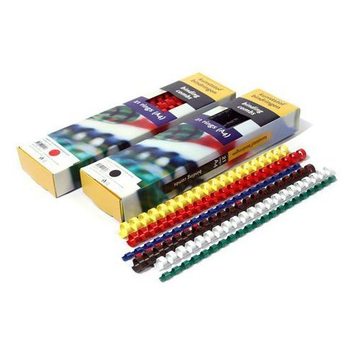 Argo Grzbiety do bindowania plastikowe, żółte, 14 mm, 100 sztuk, oprawa do 125 kartek - rabaty - porady - hurt - negocjacja cen - autoryzowana dystrybucja - szybka dostawa