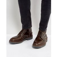H by hudson wycombe leather lace up boots - brown