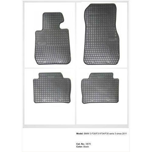 Dywaniki gumowe czarne z kompletem stoperów - bmw seria 3 (f30/f31/f35) od 2012 marki Frogum