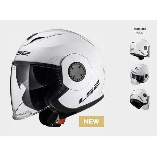 Ls2 Kask of570 verso solid white