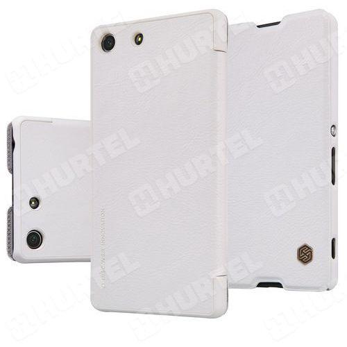 NILLKIN Qin skórzana kabura etui Sony Xperia M5 E5603 biała (6902048106277)