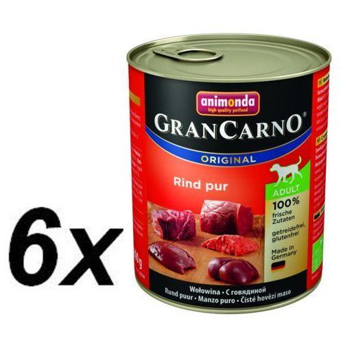 gran carno wilgotna karma dla psa, czysta wołowina - 6x 800g marki Animonda