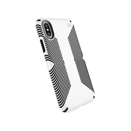 Speck Presidio Grip Etui Obudowa iPhone Xs / X (White/Black), kolor czarny