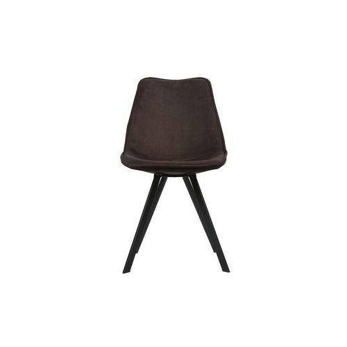 Woood zestaw 2 krzeseł swen velvet antracytowe 375465-a